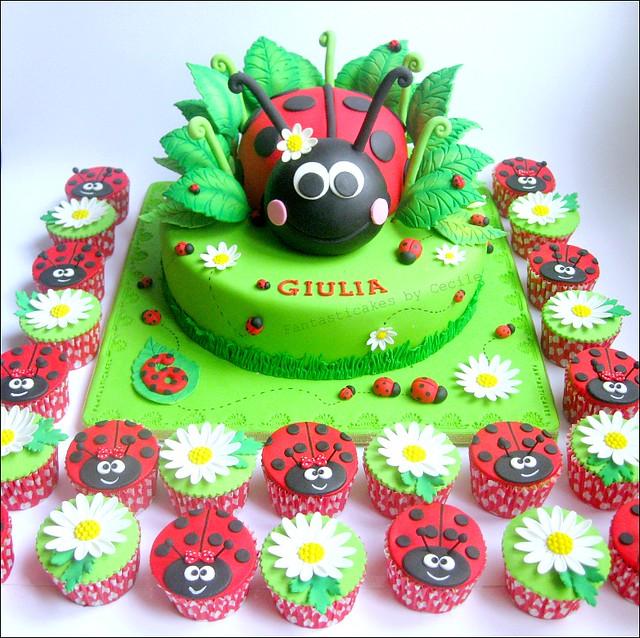 Ladybug Cupcake Cake Ideas