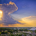 Sunburst cloud above Magic Kingdom, Disney World, Orlando by Lisa Bettany {Mostly Lisa}