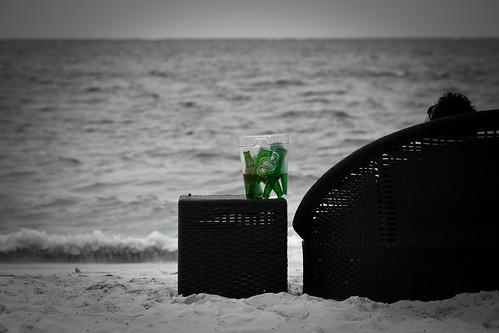 ocean blackandwhite bw man beach water beer canon heineken table relax person hotel sand view 85mm wave carribean sofa turks caicos gansevoort