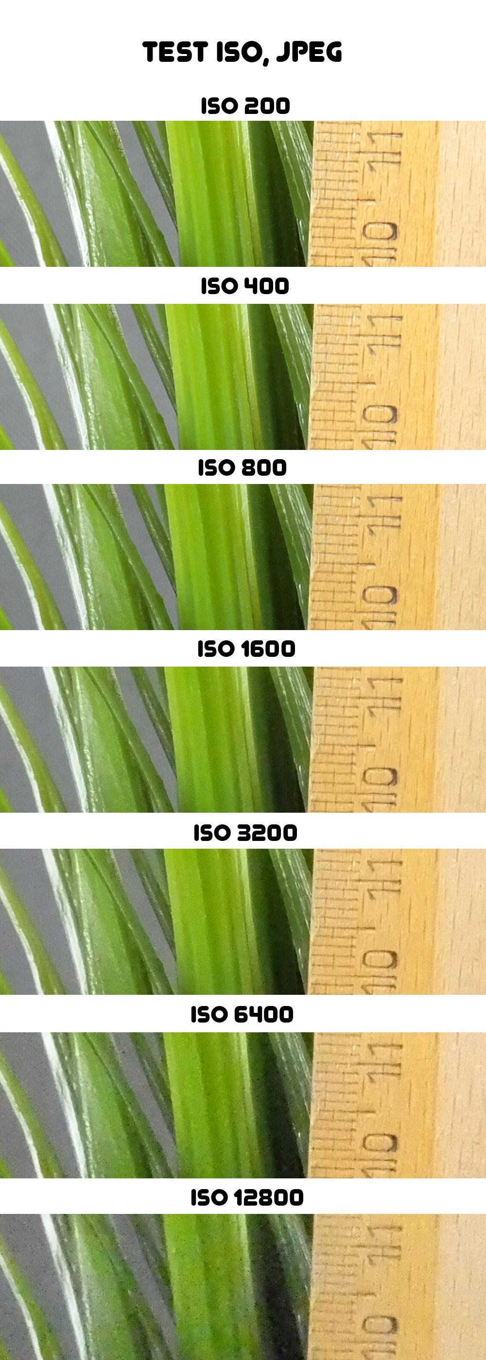 Fujifilm XQ1 - test ISO, JPEG