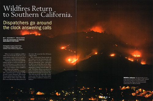 My photo of Mt. San Miguel on fire in 2007 got published!
