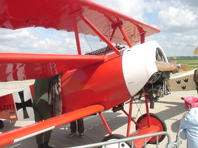 Fokker Dr.I: Seitenansicht