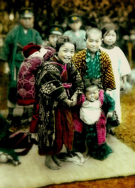 BAREFOOT AND BUNDLED IN OLD JAPAN -- Little Miss Meiji and Her Three Brothers