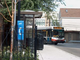 The CTA turn around loop at North Halsted Street and west Belmont Avenue. Chicago Illinois. september 2006. by Eddie from Chicago
