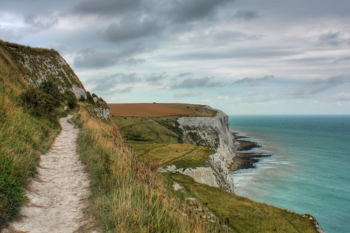 Walking the white cliffs of Dover...