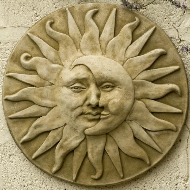 Garden Plaque Sun Moon Face Flickr Photo Sharing