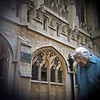 Oblivious Or Indifferent To The Sights. Bath Abbey Churchyard, Bath, Somerset. by Terrorkitten