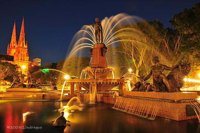 The Archibald Fountain in Sydney Hyde Park
