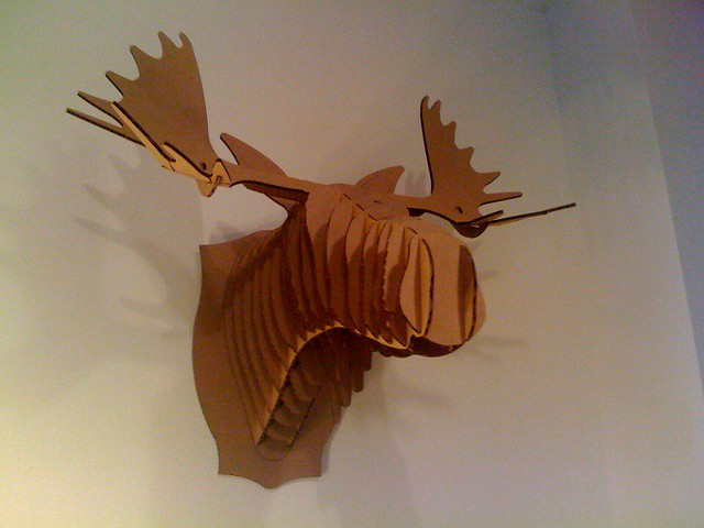 Photo - Cardboard moosehead ...