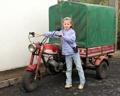 vehicle, motorcycle, land vehicle, tricycle,