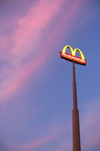 sunset virginia mcdonalds roadsign