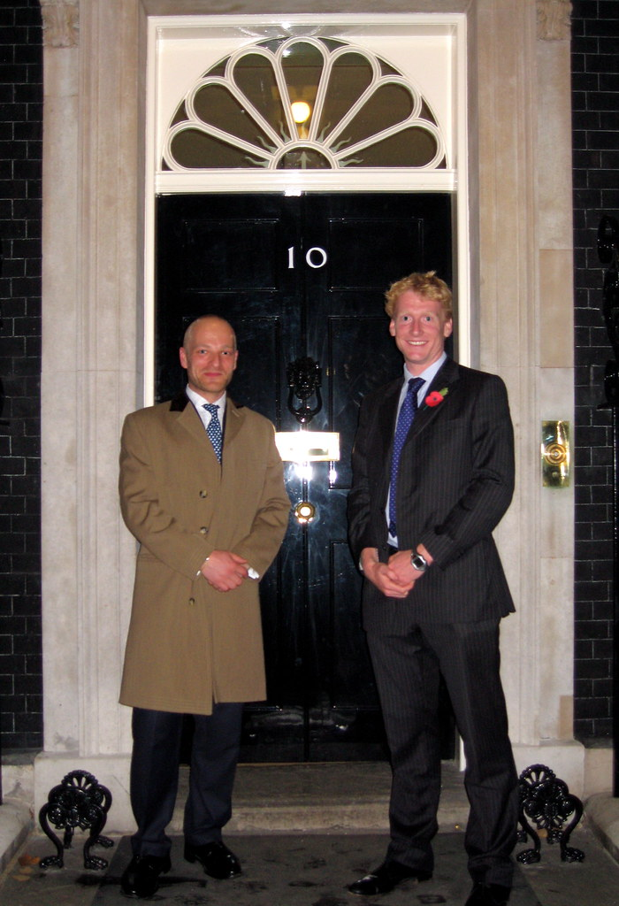 Ben and me at 10 Downing Street