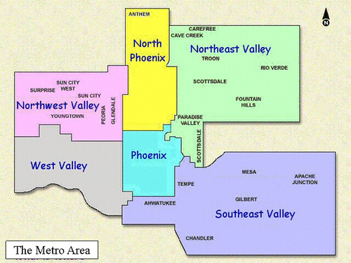 Phoenix Metro Area Map  Flickr  Photo Sharing