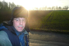 Selbst auf dem Weg nach Berkersheim, November 2008