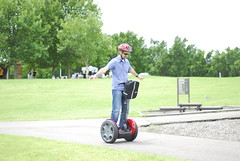 vehicle, segway, lawn, land vehicle,
