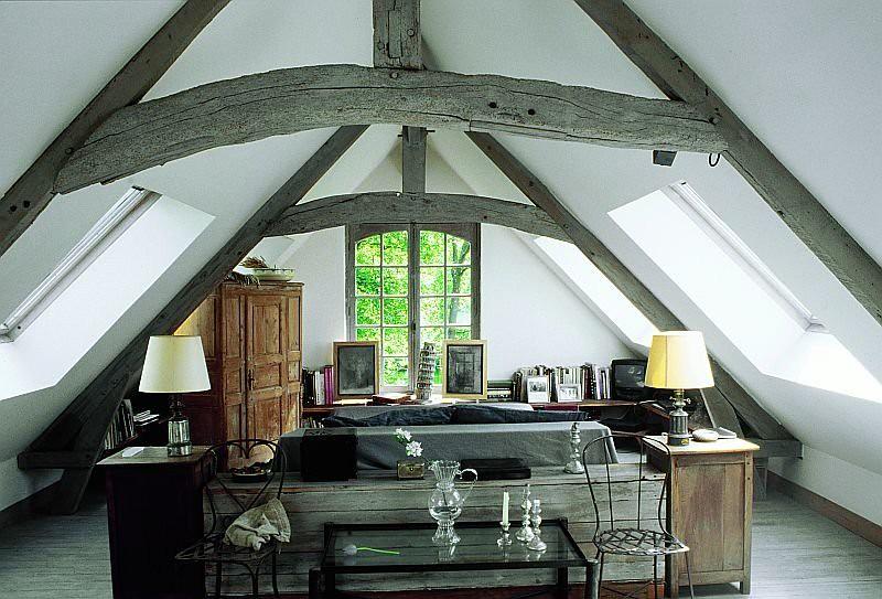 from kikette interiors rustic modern loft attic a frame living room - Modern A Frame