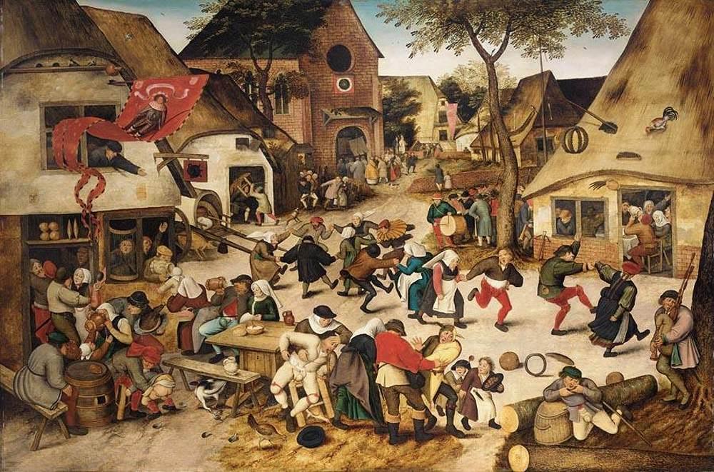 3. Escena cotidiana de la Baja Edad Media. Obra de Pieter Brueghel, el Joven (1564-1638)