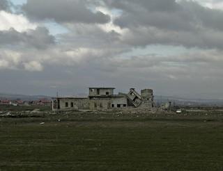 Bombed building in Kosov