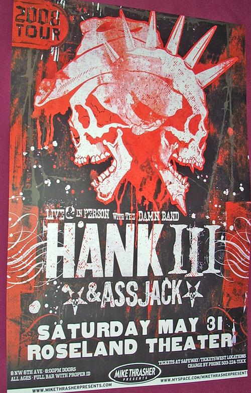Hank III concert Poster