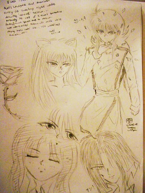 Photo:YYH Random drawings By kitsunebabe