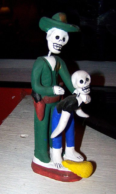 Oaxacan Skeleton Policeman Arresting and having anal sex with a young thief