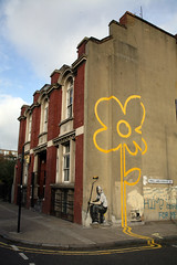 Banksy Sunflower, Bethnal Green