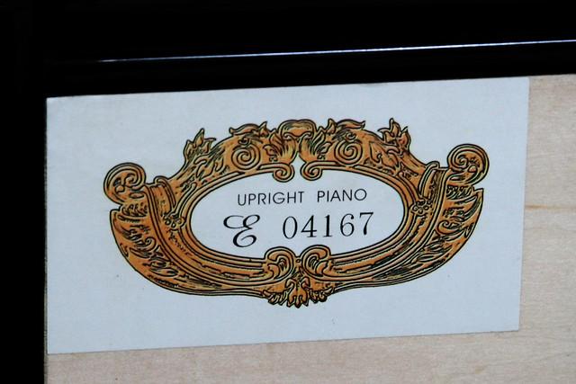 UPRIGHT PIANO E 04167