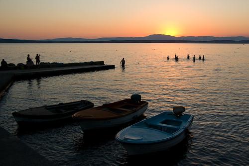 sunset zonsondergang croatia zee croatian hrvatska kroatie crikvenica kroatië kvarner beeldmark geo:lat=45176289 geo:lon=14685577