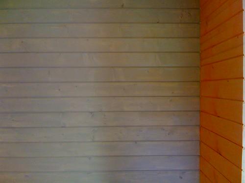 Peinture pose du lambris des chambres pose du bardage for Peinture lambris