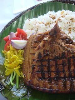 Grilled Pork and Garlic Rice