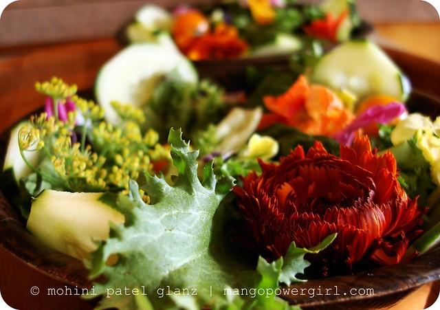 island edible flower salad