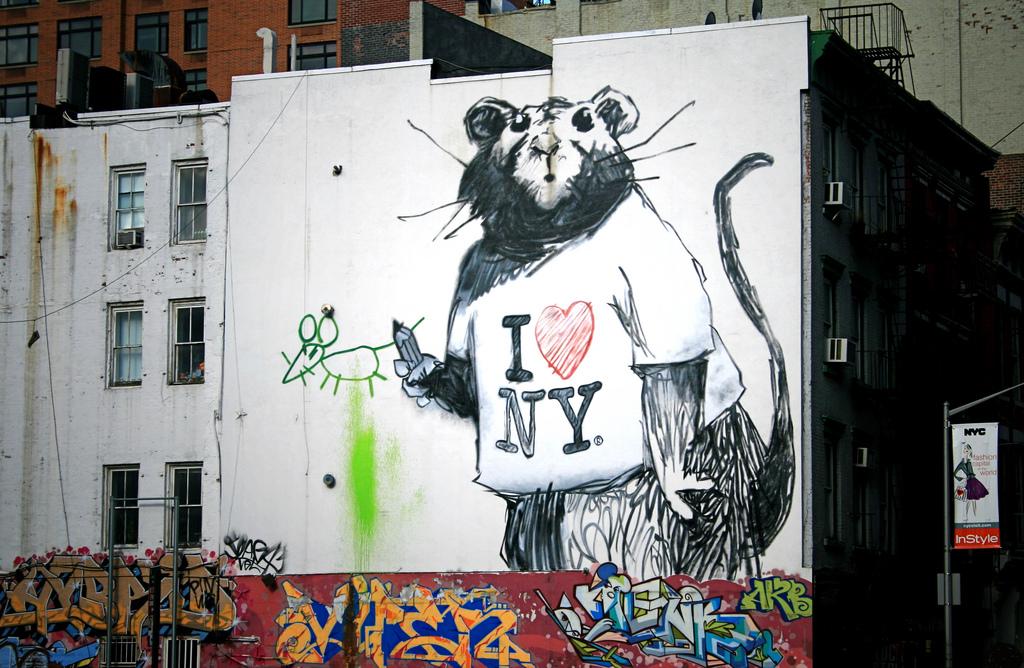 New banksy rat mural in new york a photo on flickriver for Banksy rat mural