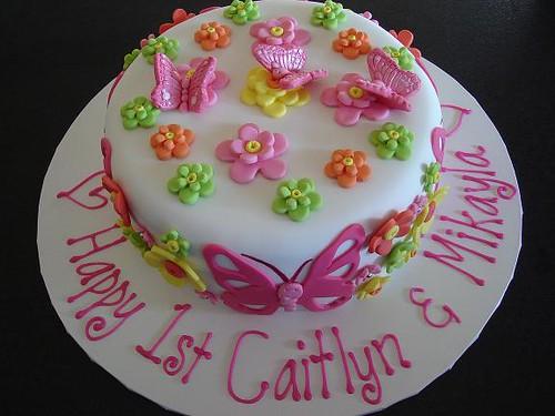 Butterfly Flower Birthday Cake