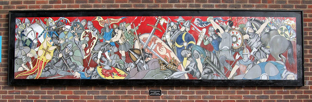 Battle of senlac hastings mural battle east sussex for Siege mural rabattable