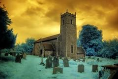 Infrared All Saints church Thornage Norfolk
