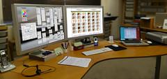 Brett's desktop, annotated