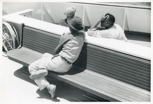 Migratory agricultural workers on board the 'Princess Anne' ...