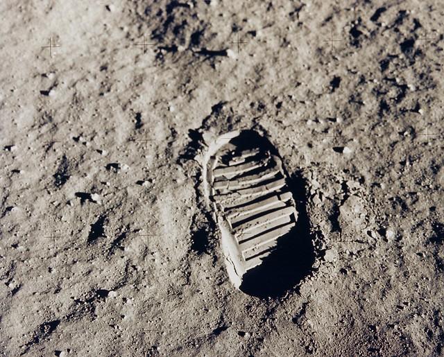 Buzz Aldrin's Lunar Bootprint (1969)