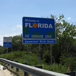 Welcome to Florida! I-95 Southbound at the Florida-Georgia Border
