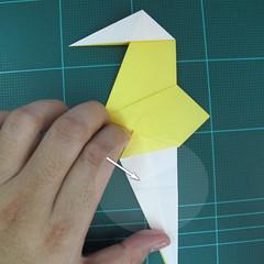 วิธีการพับกระดาษรูปม้าน้ำ (Origami Seahorse) 027