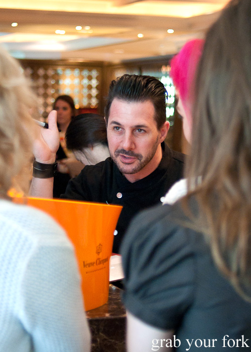 Johnny Iuzzini chatting to fans at The Langham Hotel Melbourne high tea for the Melbourne Food and Wine Festival 2014