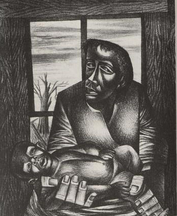 Lithograph Piece by Charles White