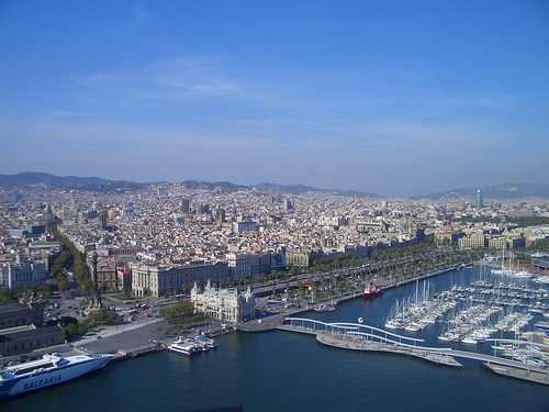 Barcelona aerial view by ronmcbride66