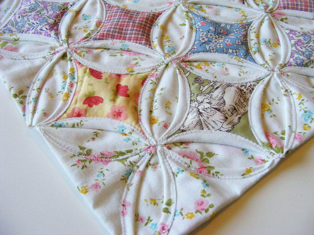 Cathedral Window Doll Quilt For Quilt Swap 4 A Photo On