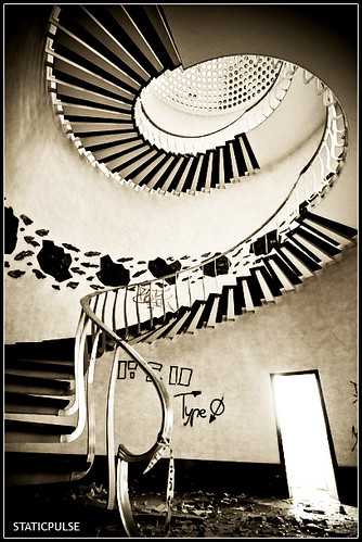 The stair...