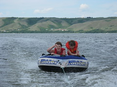 vehicle, tubing, sports, recreation, boating, water sport,