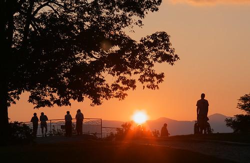 sunset mountains landscape view scenic northcarolina tourists