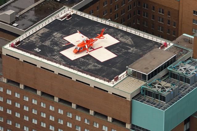 Ornge Air Ambulance at Hospital For Sick Children Helipad ...