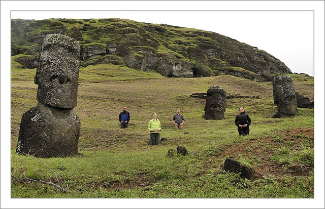 At Rano Raraku - Four New Moai