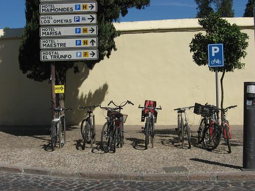Aparcamiento actual Bicis Biblioteca Publica Provincial de Córdoba.
